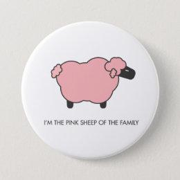 Pink Sheep Pinback Button