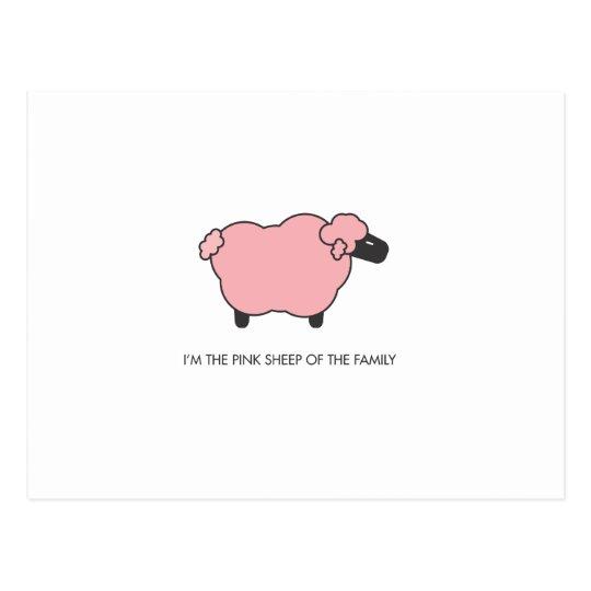 Pink Sheep Postcard