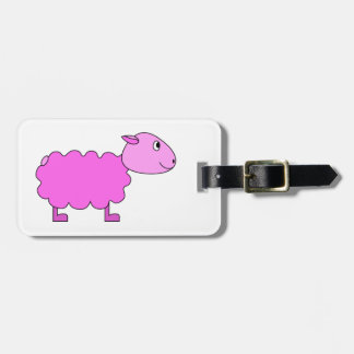 Pink Sheep. Tag For Bags