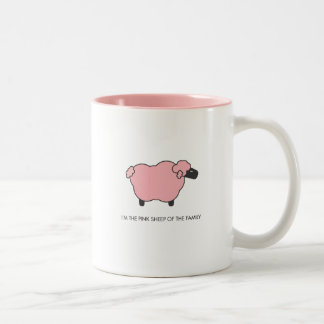 Pink Sheep Two-Tone Coffee Mug