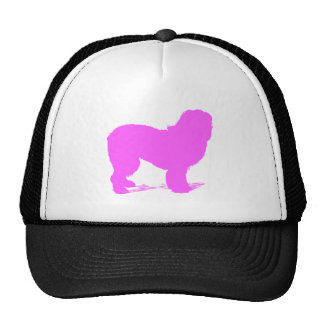 Pink Sheepdog Silhouette Hats