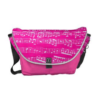 Pink Sheet Music Courier Bag
