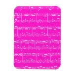 Pink Sheet Music Flexible Magnet