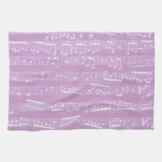 Pink Sheet Music Hand Towels
