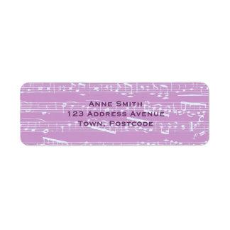 Pink Sheet Music Custom Return Address Label