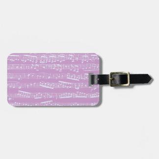 Pink Sheet Music Travel Bag Tag