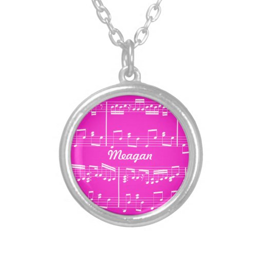 Pink Sheet Music Necklace