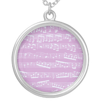 Pink Sheet Music Necklaces
