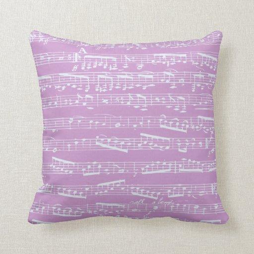 Pink Sheet Music Pillow