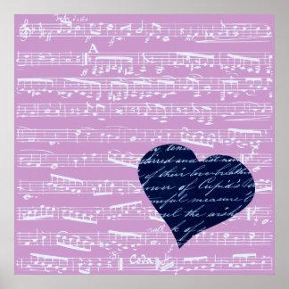 Pink Sheet Music Print