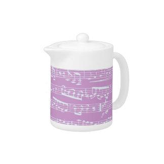Pink Sheet Music Teapot
