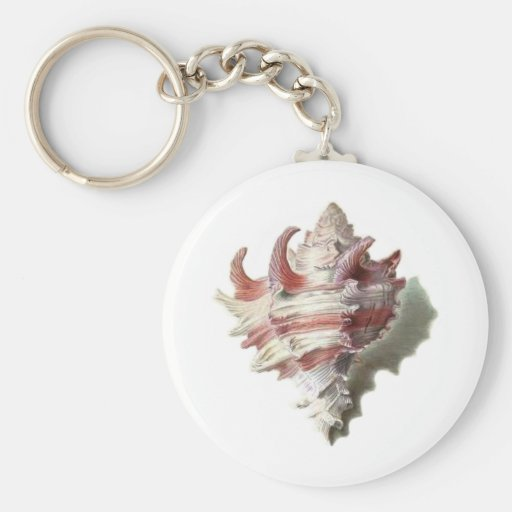 Pink Shell Keychain