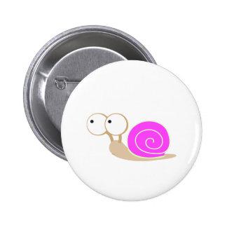 Pink Shelled snail Button