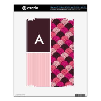 Pink Shells Japanese Shell Design NOOK Decal