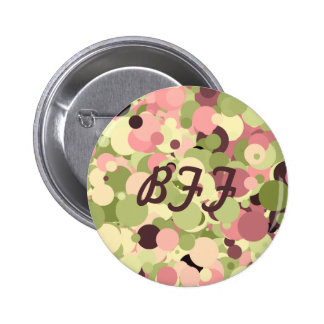 Pink Sherbet Circles 2 Inch Round Button