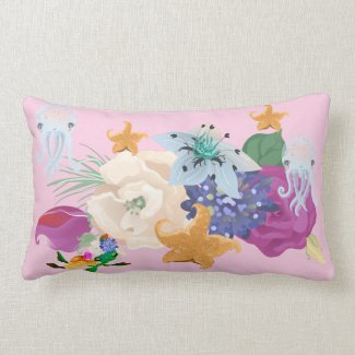 Pink Sherbet Nautical Lumbar Pillow