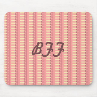 Pink Sherbet Stripes Coordinate Mousepads