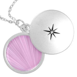 Pink Shine Background Locket Necklace