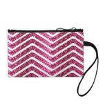 Pink Shiney Glittery Look Chevron Bling Coin Purses