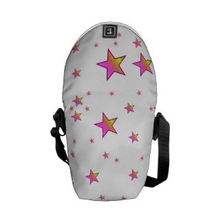 Pink Shiny Stars Background Cover Courier Bag