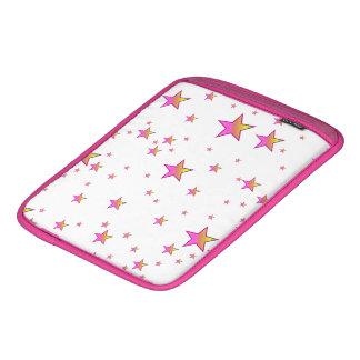 Pink Shiny Stars Background Cover iPad Sleeve