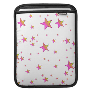 Pink Shiny Stars Background Cover Sleeve For iPads