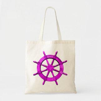 Pink Ships Wheel Canvas Bag