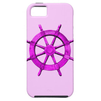 Pink Ships Wheel iPhone 5 Cases
