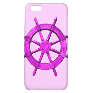 Pink Ships Wheel iPhone 5C Cases