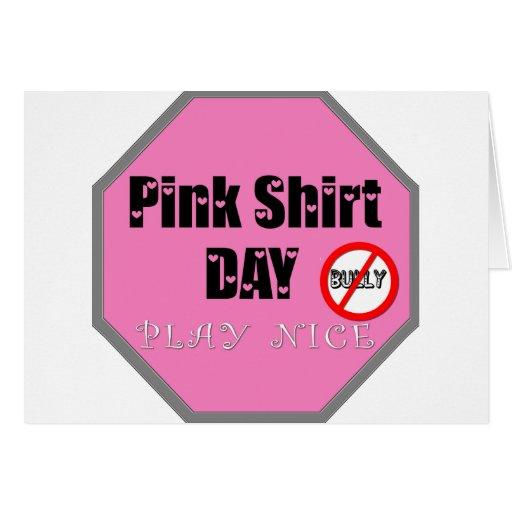 PINK SHIRT DAY GREETING CARD