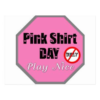 Pink Shirt Day Play Nice Postcard