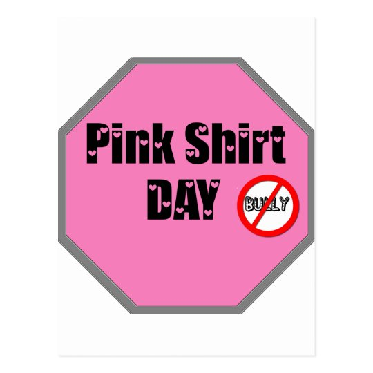Pink Shirt Day Postcard