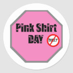 Pink Shirt Day Round Stickers