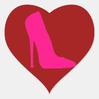 PINK SHOE HEART STICKER