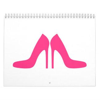 Pink Shoe Pumps Wall Calendar