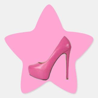 PINK SHOE STAR STICKER