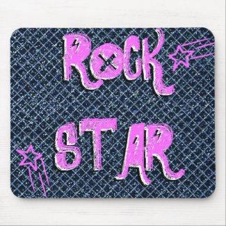 Pink Shooting Star Rock Star Mousepad mousepad