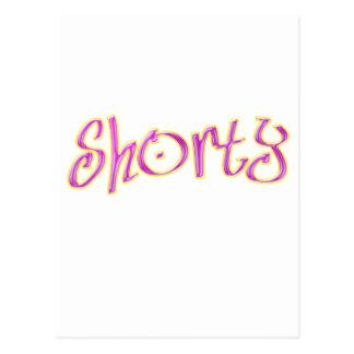 pink shorty postcard
