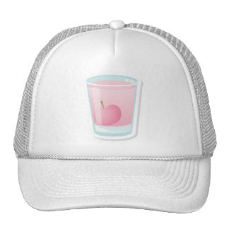 Pink shot with cherry trucker hat