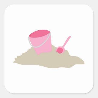Pink Shovel and Pail Sticker
