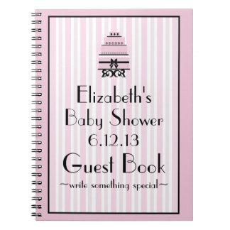 Pink Shower Guestbook Notebook