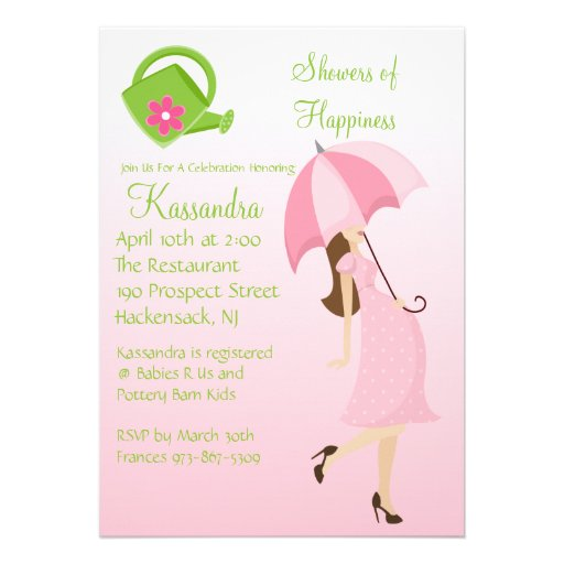 pink showers mom to be baby shower invitation zazzle
