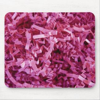Pink Shredded Crinkled Paper Mouse Pad