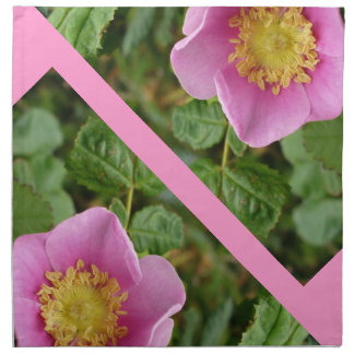 Pink Shrub Rose Blossom Cloth Napkin