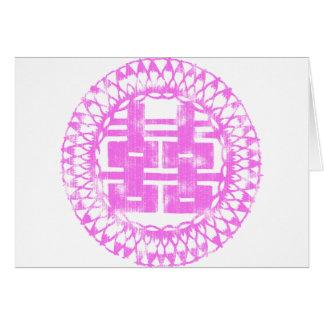 Pink Shuan Xi Greeting Card