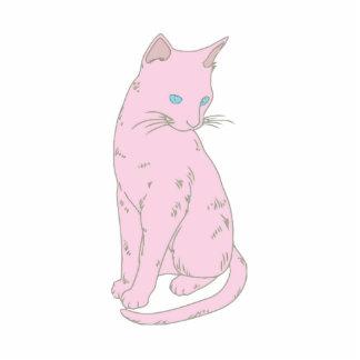 Pink Siamese Cat. Photo Cutout