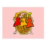 Pink Side by Side Women Postcard