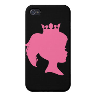 Pink Silhouette Princess and Gifts iPhone 4/4S Covers