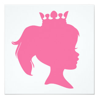 Pink Silhouette Princess T-shirts and Gifts Card
