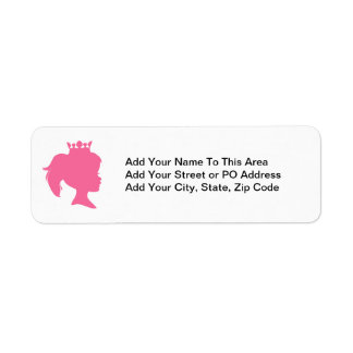Pink Silhouette Princess T-shirts and Gifts Labels